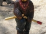 Smokey Bear Chain Saw Statue
