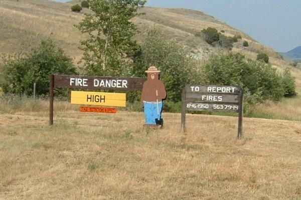 Initial Attack Station near Garrison, Montana