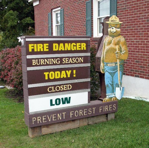 Smokey Bear at the Belchertown, MA Firestation